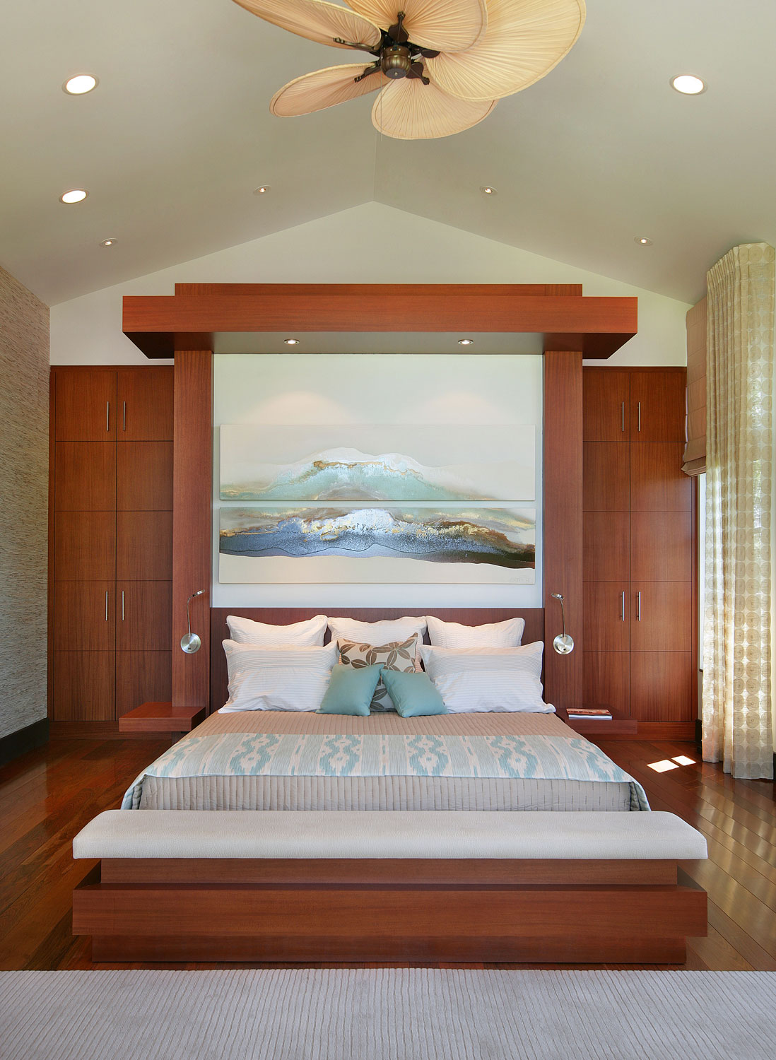 custom residential home interior bedroom
