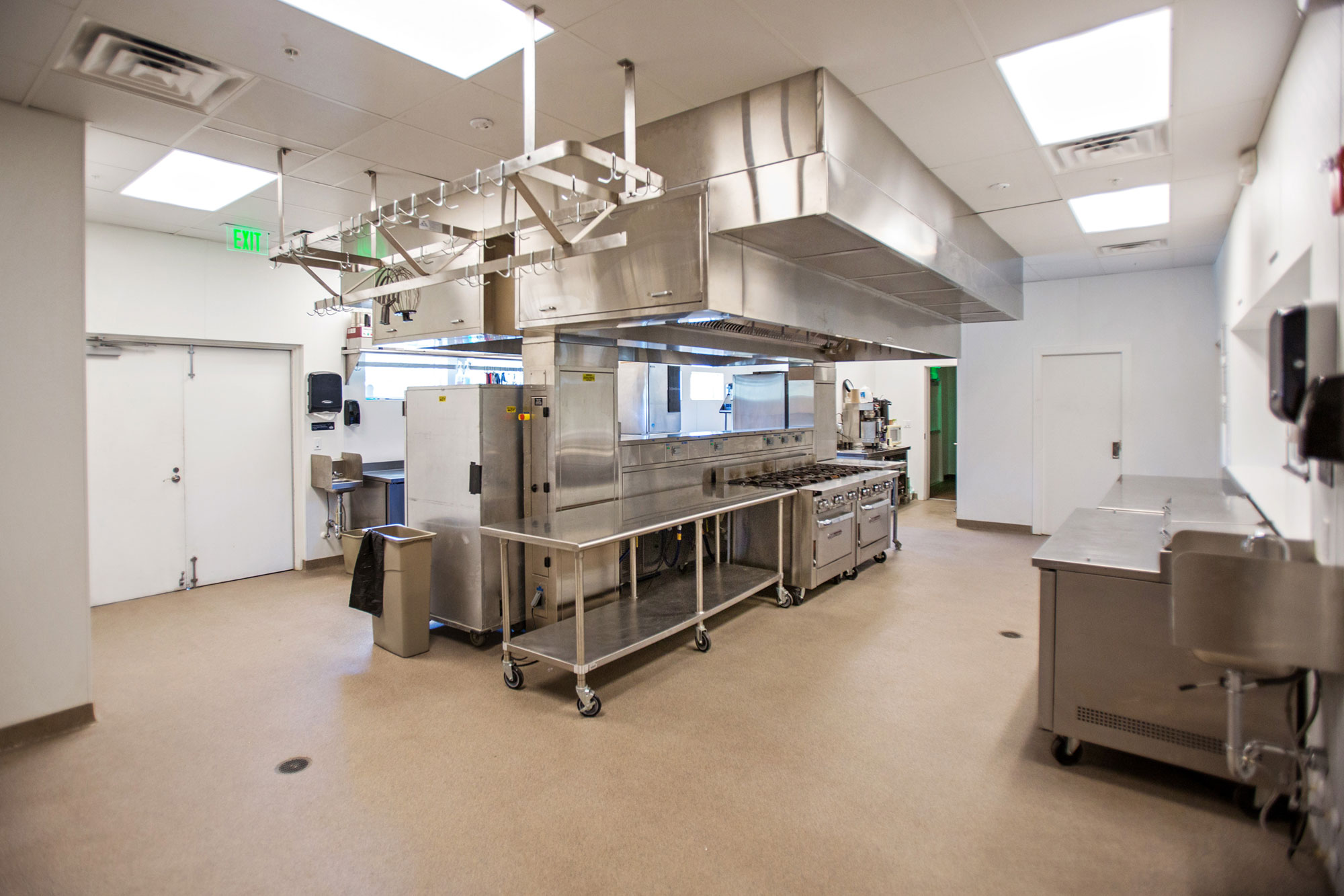commercial building interior kitchen